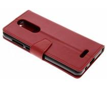 Stilvolles Booklet Rot für das Wiko View Lite