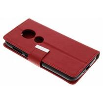 Buchtyp Hülle Rot für das Motorola Moto E5 Play