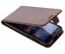 Leder Flipcase Braun für das Alcatel U5 HD