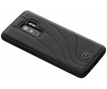 Mercedes-Benz Real Leather Hard Case Schwarz Samsung Galaxy S9 Plus