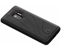 Mercedes-Benz Real Leather Hard Case Schwarz für das Samsung Galaxy S9