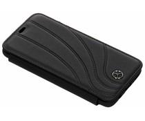 Mercedes-Benz Real Leather Booktype Case Schwarz für das Samsung Galaxy S9