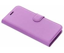 Litchi Buchtyp-Hülle Lila für das Xiaomi Redmi 6A