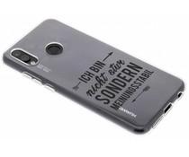Zitat-Design TPU Handyhülle für das Huawei P20 Lite