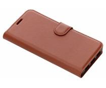 Litchi Buchtyp-Hülle Braun für das BlackBerry Key2