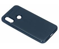Brushed TPU Case Dunkelblau für das Xiaomi Mi A2 Lite