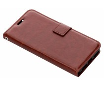 Luxus Leder Booktype Hülle Braun für das Xiaomi Mi A2 Lite