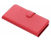 Litchi Buchtyp-Hülle Rot für das Microsoft Lumia 640