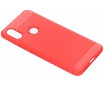 Brushed TPU Case Rot für das Xiaomi Redmi S2