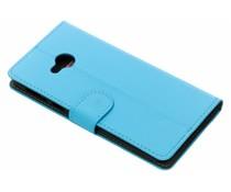Luxus Leder Booktype Hülle Blau für HTC U Play