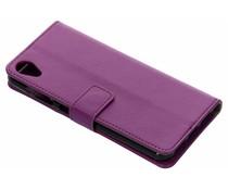 TPU Bookcase Lila für Asus ZenFone Live L1