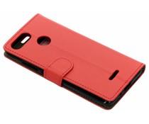 Luxus Leder Booktype Hülle Rot für Xiaomi Redmi 6