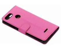 Luxus Leder Booktype Hülle Rosa für Xiaomi Redmi 6