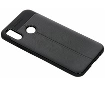 Leder Silikon-Case Schwarz für das Huawei P Smart Plus