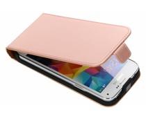 Selencia Roségoldenes Luxus Flipcase für Samsung Galaxy S5 Mini