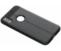 Leder Silikon-Case Schwarz für das iPhone Xs Max