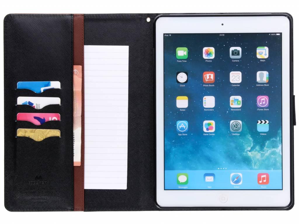 Mercury Goospery Canvas Diary Case Ipad Air Xiaomi Mi 6 Black Braun Fr Das