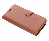 Litchi Buchtyp-Hülle Braun für das Meizu Pro 7
