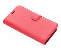 Litchi Buchtyp-Hülle Rot für das Meizu Pro 7