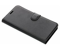 Litchi Buchtyp-Hülle Schwarz für das Meizu Pro 7 Plus