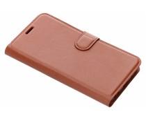 Litchi Buchtyp-Hülle Braun für das Meizu Pro 7 Plus