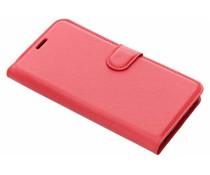 Litchi Buchtyp-Hülle Rot für das Meizu Pro 7 Plus
