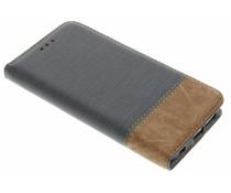 Denim-Look Bookstyle Grau für Samsung Galaxy S6