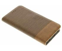 Denim-Look Bookstyle Braun für Samsung Galaxy S6