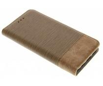 Denim-Look Bookstyle Braun für Samsung Galaxy S7