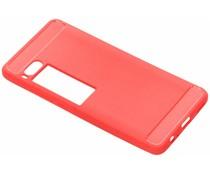 Brushed TPU Case Rot für das Meizu Pro 7