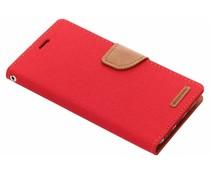 Mercury Goospery Canvas Diary Case Rot für das Xiaomi Redmi 5 Plus