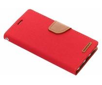 Mercury Goospery Canvas Diary Case Rot für das Xiaomi Redmi 5