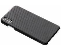 Carbon Look Hardcase-Hülle Schwarz für iPhone Xs Max
