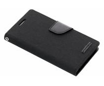 Mercury Goospery Canvas Diary Case für Sony Xperia Z5 - Schwarz
