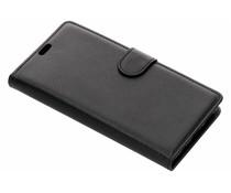 Litchi Buchtyp-Hülle Schwarz für das Huawei P Smart Plus