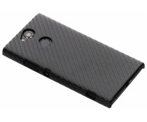 Carbon Look Hardcase-Hülle Schwarz für Sony Xperia XA2