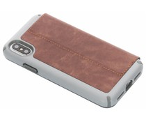Speck Presidio Folio Leather Case Braun für das iPhone Xs / X
