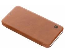 Nillkin Qin Leather Slim Booktype Hülle Braun für das iPhone Xr