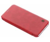 Nillkin Qin Leather Slim Booktype Hülle Rot für das iPhone Xr