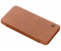 Nillkin Qin Leather Slim Booktype Hülle Braun Xiaomi Pocophone F1