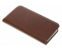 Mobiparts Excellent Wallet Case Braun für das iPhone 5 / 5s / SE