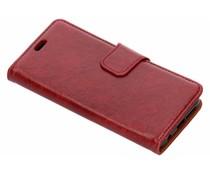 Knitterleder TPU Booktype Hülle Rot für das Honor 10