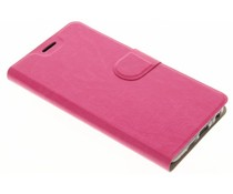 Moderne TPU Booktype-Hülle Fuchsia für das HTC One A9s