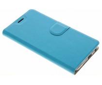 Moderne TPU Booktype-Hülle Blau für das HTC One A9s