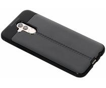 Leder Silikon-Case Schwarz für das Huawei Mate 20 Lite