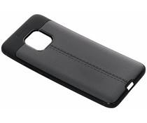 Leder Silikon-Case Schwarz für das Huawei Mate 20 Pro