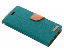 Mercury Goospery Canvas Diary Case Grün für das Huawei P20 Pro