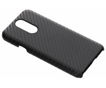 Carbon Look Hardcase-Hülle Schwarz für das LG Q7