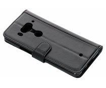 Luxus Leder Booktype Hülle Schwarz für das HTC U12 Plus