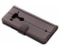 Luxus Leder Booktype Hülle Braun für das HTC U12 Plus